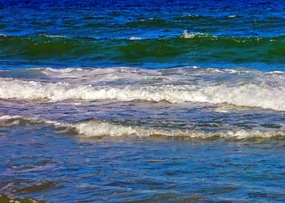 Painting - Wave Study 2 - Jacksonville Beach by David Wiles
