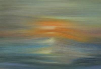 Painting - Wave Swept Sunset by Dan Sproul