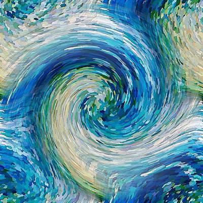 Digital Art - Wave To Van Gogh II by David Manlove