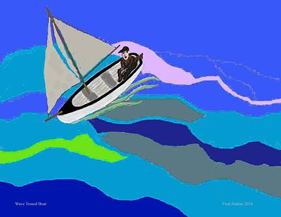 Wave Tossed Boat Original by Fred Jinkins
