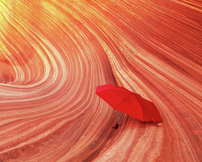 Photograph - Wave Umbrella by Norman Hall