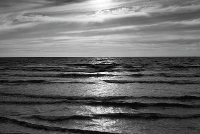 Wave Upon Wave I Bw Art Print by David Gordon