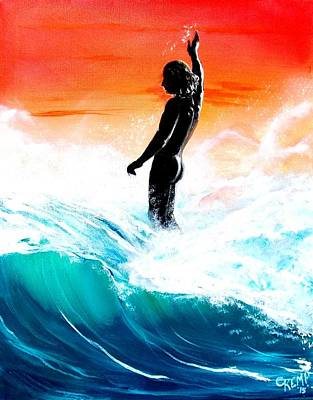 Painting - Wave Walk by Chuck Kemp