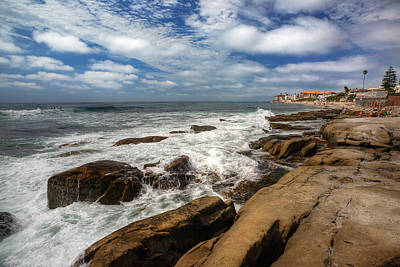 Windnsea Photograph - Wave Wash by Peter Tellone