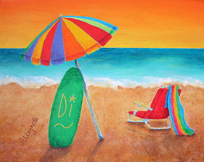 Painting - Wave Watch by Pamela Allegretto