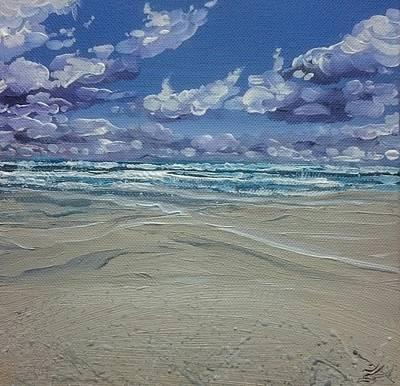 Painting - Wave Watching by Keran Sunaski Gilmore