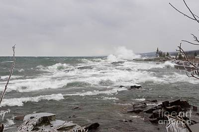 Photograph - Wave Watching On Superior by Sandra Updyke