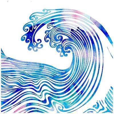 Beach Mixed Media - Waveland by Stevyn Llewellyn