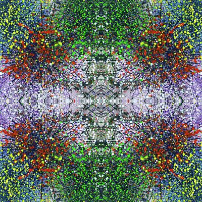 Fireworks Mixed Media - Wavelength Of Gratefulness #1495 by Rainbow Artist Orlando L aka Kevin Orlando Lau