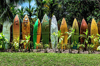 Surfboard Fence Photograph - Waveless by Kelley King