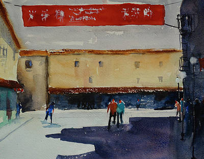 Painting - Waverly Place, San Francisco China Town by Tom Simmons