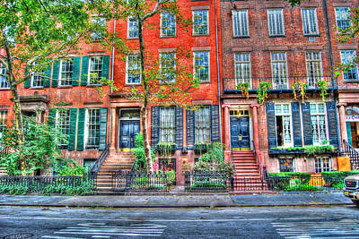 Manhattan Photograph - Waverly Place Townhomes by Randy Aveille