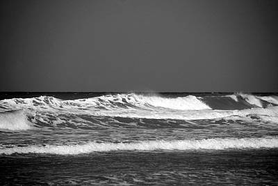 Bnw Photograph - Waves 2 In Bw by Susanne Van Hulst