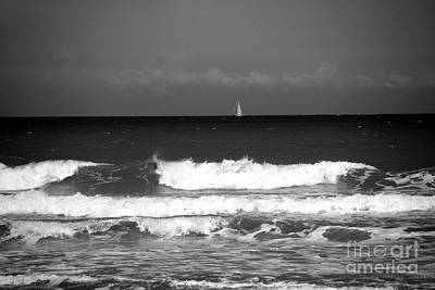 Beach Scenes Photograph - Waves 4 In Bw by Susanne Van Hulst