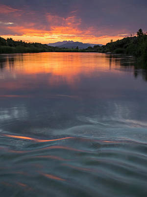 Photograph - Waves Across The River by Sue Cullumber