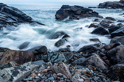 Photograph - Waves Against A Rocky Shore by Doug Camara