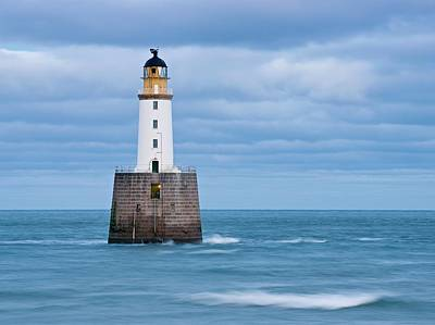Photograph - Waves And Clouds At Rattray Head Lighthouse by Stephen Taylor