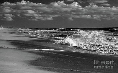 Photograph - Waves And Clouds In Bw by Mary Haber