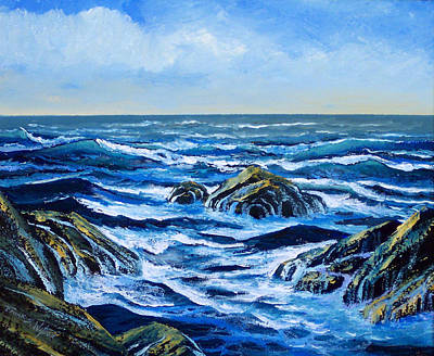 Painting - Waves And Foam by Frank Wilson
