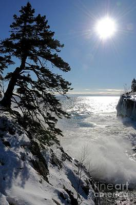 Photograph - Waves And Ice At Tettegouche by Sandra Updyke