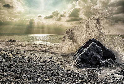 Photograph - Waves And Rays by Nick Bywater