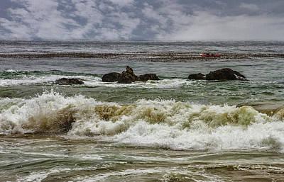 Photograph - Waves And Rocks 3 by Robert Hebert