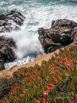Photograph - Waves And Rocks At Soberanes Point, California 30296 by John Bald