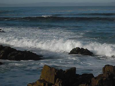 Waves And Rocks Art Print by Sharon McKeegan