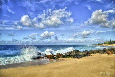 Photograph - Waves N Rocks North Shore Oahu Surfing Mecca Hawaii Collection Art by Reid Callaway