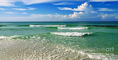 Photograph - Waves And Sky Serenity by Paul Wilford