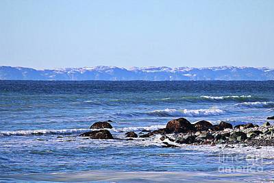 Photograph - Waves At Argentia  by Barbara Griffin