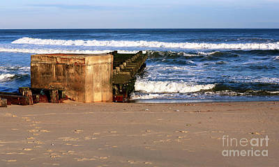 Photograph - Waves At Asbury Park Beach by John Rizzuto