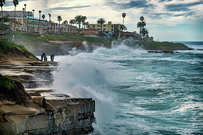 Photograph - Waves At La Jolla Cove Ca_7r2_dsc3220_17-01-14 by Greg Kluempers