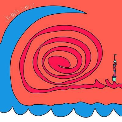 Digital Art - Waves At Lighthouse Landing by Jason Nicholas