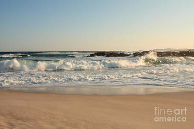 Photograph - Waves At Lights Beach by Elaine Teague