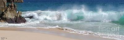 Soap Suds - Waves At Lovers Beach by Carole L Parker