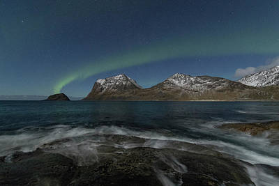 Photograph - Waves At Night by Frank Olsen