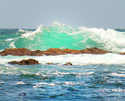 Photograph - Waves At Pacific Grove California by Artist and Photographer Laura Wrede