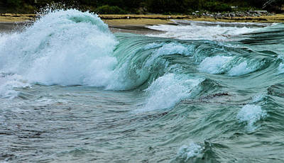 Photograph - Waves At Sand Beach, Acadia National Park, Maine by Marilyn Burton