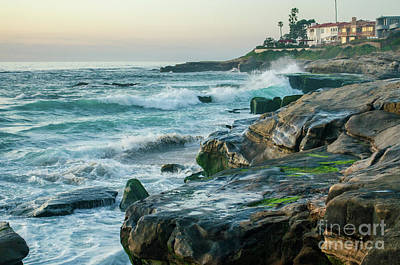 Photograph - Waves At Windansea by Mike Ste Marie