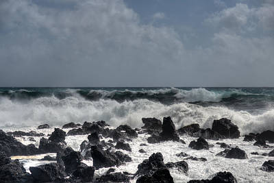 Photograph - Waves Azores-03 by Joseph Amaral