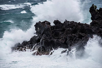 Photograph - Waves Azores-030 by Joseph Amaral