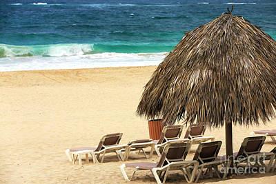 Photograph - Waves Breaking At Punta Cana by John Rizzuto