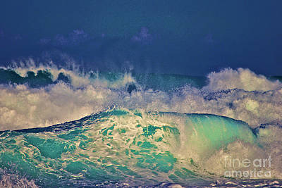 Waves Breaking Art Print