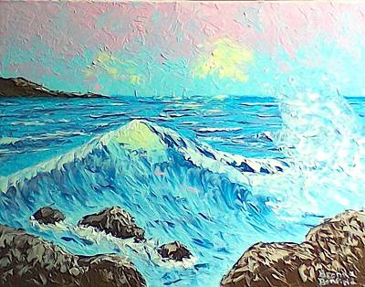 Painting - Waves by Brenda Bonfield