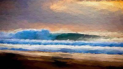 Water Digital Art - Waves By The Shore by Anthony Fishburne