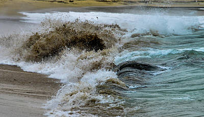 Photograph - Waves Churning The Sand At Sand Beach, Maine by Marilyn Burton
