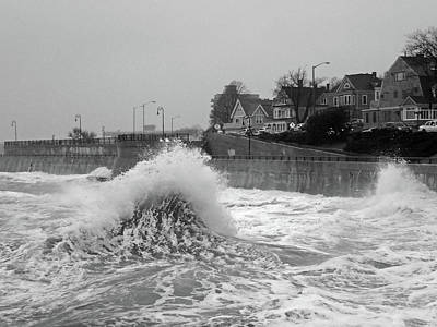 Photograph - Waves Colliding On The Lynn Waterfront Lynn Ma by Toby McGuire