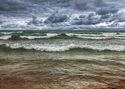 Book Quotes - Waves coming Ashore during a Storm by Randall Nyhof