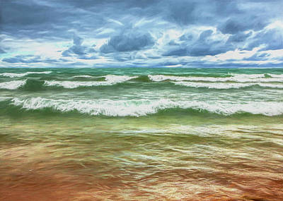 Photograph - Waves Coming Ashore by Randall Nyhof